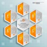 3D papel abstrato Infographics Imagem de Stock Royalty Free