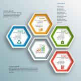 3D papel abstrato Infographics Fotos de Stock