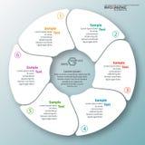 3D papel abstrato Infographics Imagens de Stock