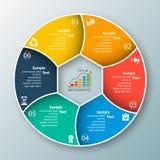 3D papel abstrato Infographics Fotografia de Stock Royalty Free