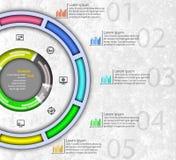 3D papel abstrato Infographics Foto de Stock