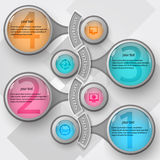 3D papel abstrato Infographics Imagens de Stock Royalty Free
