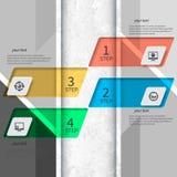 3D papel abstrato Infographics Fotografia de Stock