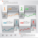 3D papel abstrato Infographics Imagens de Stock