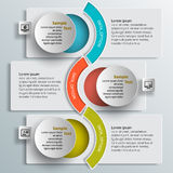 3D papel abstrato Infographics Imagem de Stock Royalty Free