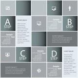 3D papel abstrato Infographics Imagem de Stock