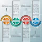 3D papel abstrato Infographics ilustração stock