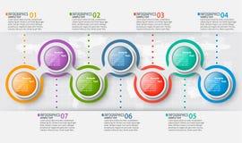 3D papel abstrato Infographics Molde do negócio Ilustração do vetor ilustração royalty free