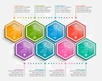 3D papel abstrato Infographics Molde do negócio Ilustração do vetor ilustração stock