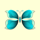 3D paper abstract butterfly colorful shape Royalty Free Stock Images