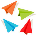 3d Paper Airplane Icon Set. An image of a 3d paper airplane icon set Royalty Free Stock Images