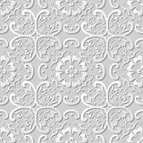 3D paper art pattern curve cross round flower. Can be used for both print and web page Royalty Free Stock Photography