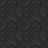 3D paper art pattern curve cross round flower. Can be used for both print and web page Royalty Free Stock Photo