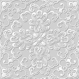 3D paper art pattern curve spiral round flower. Can be used for both print and web page Royalty Free Stock Image