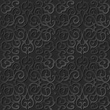 3D paper art pattern round spiral cross chain vine Royalty Free Stock Images