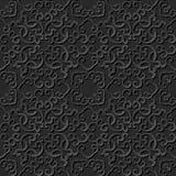 3D paper art pattern spiral cross chain kaleidoscope Stock Photography