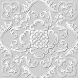 3D paper art pattern spiral curve leaf flower Royalty Free Stock Images