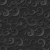 3D paper art pattern spiral curve wave cross Stock Photos