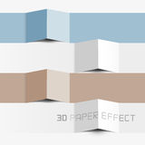 Vector Paper Effect. 3d paper effect for copy text, information Royalty Free Stock Photos