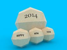 3d paper globe which contains happy new year. 3d paper globe with happy new year 2014 royalty free illustration