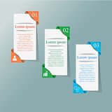 3D paper Infographic. Abstract 3D paper Infographic. Vector illustration can be used for workflow layout, diagram, number options, web design Stock Photo