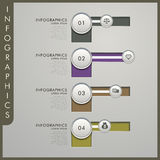 3d paper infographic elements. Modern vector abstract 3d paper infographic elements Royalty Free Stock Photography