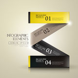 3d paper infographic elements Royalty Free Stock Images