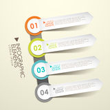 3d paper label infographic elements Royalty Free Stock Image