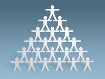3d paper people stick figures  teamwork concept. 3d render of paper people stick figures  teamwork concept Stock Photo