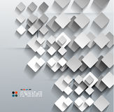 3d paper rhomb vector modern design Royalty Free Stock Images