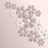 3d paper sakura flowers stock photo