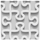 3d paper seamless puzzle pattern Royalty Free Stock Photo