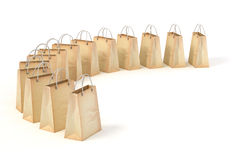 3d paper shopping bags. On white background Royalty Free Stock Image