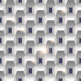 3D paper simple clean seamless geometric white texture backgroun Royalty Free Stock Image