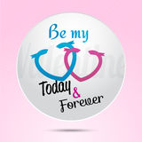 3d paper Valentine's Day Badge card Stock Photography
