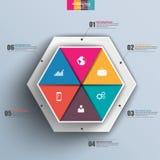 3D papier abstrait Infographic Photos stock