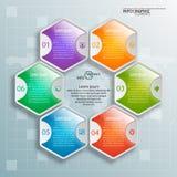 3D papier abstrait Infographics Images libres de droits