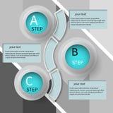 3D papier abstrait Infographics Photo libre de droits