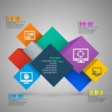 3D papier abstrait Infographics Images stock