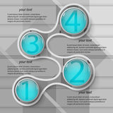 3D papier abstrait Infographics Photographie stock