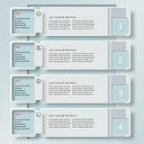 3D papier abstrait Infographics8 Photos stock