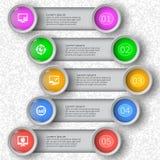 3D papier abstrait Infographics Photo stock