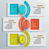 3D papier abstrait Infographics Photo stock