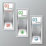 3D papier abstrait Infographics Photos stock