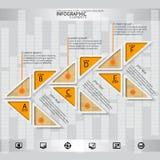 3D papier abstrait Infographics Image libre de droits