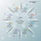 3D papier abstrait Infographics Photographie stock libre de droits