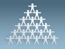 3d papieru kija ludzie obliczają pracy zespołowej pojęcie Zdjęcie Stock