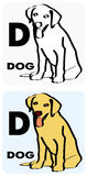 D para o cão ilustração royalty free