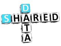 3D a partagé des mots croisé de données Photographie stock libre de droits