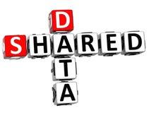 3D a partagé des mots croisé de données Images libres de droits